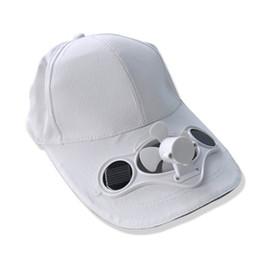 Wholesale New Solar Fans Caps - Sun visor cap summer baseball cap Benn Wholesale Fashion New solar fan cap, solar powered fan hats, outdoor sun hat, baseball cap