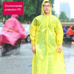 Wholesale Men Rain Coat Suit - Transparent Raincoat Plastic Waterproof Men Long Regenmantel Chuva Impermeable Rain Coat Men Raincoat Women Rain Suit DDG557