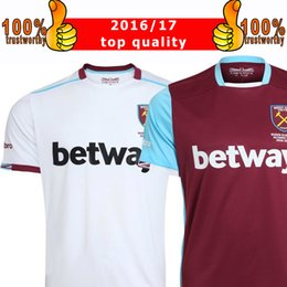 Wholesale New WestHam United Soccer Jersey Home Red Away White Soccer Jersey West Ham Football Shirts Thai Quality Jeresys