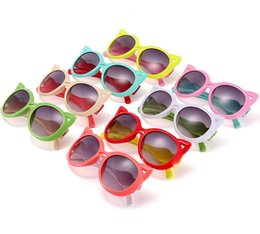 Wholesale Glasses For Girls Kids - Fashion Kids Child Polarize Cat Sports Sun Glasses Sunglasses Baby For Girls Boys Outdoor Designer Sunglasses Candy 8 Colors Free Ship S1032
