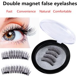 Wholesale Perfect Eyelashes - False Eyelashes Double Magnetic Lashes eye makeupTouch Soft Wear With No gule magnet eyelashes Perfect for everyday 4PCS=1pair