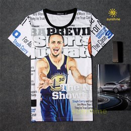 Wholesale Unisex Basketball Shorts - 2016 summer new arrival 3D print famous basketball star Curry tshirt five sizes cotton made casual T-shirt unisex sweatshirt free shipping