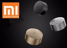 xiaomi мини-квадрат box bluetooth speaker Скидка Wholesale- Original Xiaomi Loudspeaker Mi Bluetooth 4.0 Wireless Mini Portable Stereo Three Colors Handsfree Music Square Box Speaker