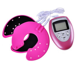 Wholesale Growth Breast - Breast enhancer Pulse massager Breast enlargement growth machine body massager female beauty product Electrical stimulator(Pink)+Retail Box