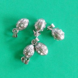 Wholesale Crystal Football Charms - Free shipping 10pcs Silver Plated Crystal Stone Paved 3D Football Ruby Charms Sports Fans Jewelry Findings 20*8mm jewelry making