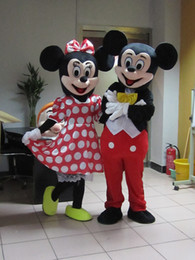 Wholesale Minnie Mouse Mascot Costumes - 2016 High quality Mickey Mouse mascot costume Mickey mascot Minnie mascot Minnie mascot free shipping