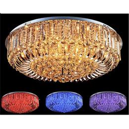 Бесплатная доставка высокое качество новый современный K9 Кристалл LED люстра потолочный светильник подвесной светильник освещение 50 см 60 см 65 см 80 см пульт дистанционного управления от