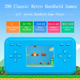 Wholesale Lcd Tvs Wholesale - Retro Game Console 2.4 inch LCD Classic Handheld Game Player Built-in 298 Classic Games FC Video RS-28