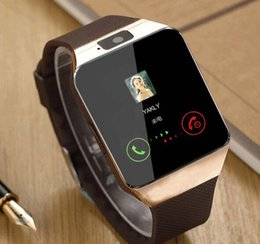 Wholesale Smart Phone Micro Sim - Bluetooth smart watch phone Micro SIM card camera watch with fitness tracker and message pushing watch for Iphone and android phone