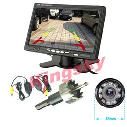"Wholesale Auto Parking Kit - Wireless Auto Parking Assistance System 9 LED IR Night Vision Reversing Backup Camera + 7"" LCD Monitor Car Rear View Kit"