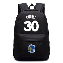 Wholesale Luminous Cross - The warriors backpack backpack Kevin durant Stephen curry male and female students bag Luminous version of laptop bag