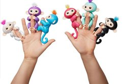 Wholesale Toy Shipping Bike - 6 colors Pre-sale Fingerlings - Interactive Baby Monkey Finger Toys Monkey Electronic Smart Touch Fingers Monkey ABS+PVC free shipping