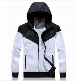 Wholesale Large Hooded Jackets Women - Jogging Suits Sport NWT Woman Sport Jacket Hooded Windbreaker Breathable and Warm BLK Large Sport Windbreaker