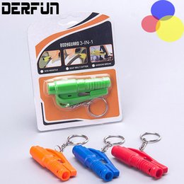 Wholesale Safety Belt Cutter - 3 in 1 Mini Strong Car Emergency Safety Hammer & Seat Belt Cutter - Glass Window Breaker Car life saver SOS Whistle