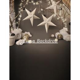 Wholesale Christmas Scenic Backdrops - 5X7ft(150x220cm)Snowflake Christmas star Newborn Children Vinyl Photography Background photography studio backdrop Photo Props F2212