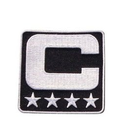 Wholesale Iron Patches Football - Captain C Patch Iron or Sewing On for Jersey Football, Baseball. Soccer, Hockey, Lacrosse, Basketball