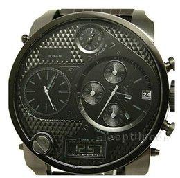 Wholesale Dz Watch Box - Freeshipping DZ7214 Men's Luxury Quartz Watches Oversized Dress Watches 4 Time Zones Analog Grey Mens Watches DZ 7214 With Original Box