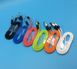 Canada Câble de câble micro USB de nouilles plates en métal 2A Synchronisation rapide des données de charge des cordons pour Samsung Mobile Phone Tablet V8 Android 3ft à 1m de 100pcs supplier iphone charging cords Offre