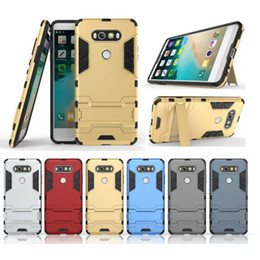 Wholesale K7 Phone - 2 in 1 Hybrid Armor Mobile Phone Back Cover for LG V20 K5 K7 K10 G5 G4 PC+TPU Protective Shell Anti-knock Case with Stand