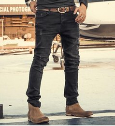 Wholesale Boot Cut Pants For Men - Brand Mens Jeans Slim Straight Stretch Pants Denim Trousers Jeans for Men Design Autumn and winter High quality fashion jeans