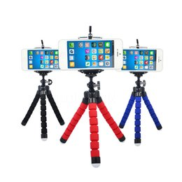 Wholesale Phone Mount Stand Camera - Mini Portable Flexible Sponge Octopus Tripod Stand Mount With Holder For Phone Action Camera and Camcorder