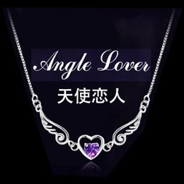 Wholesale Female Model Hands - Angel lovers female models 925 sterling silver bracelet bracelet female models Korea Version jewelry love bracelet hand