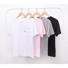 Wholesale Funny Sports Shirts - cat in pocket t shirt spring summer sport casual ripn dip t shirt men women students love funny ripndip t shirt for women