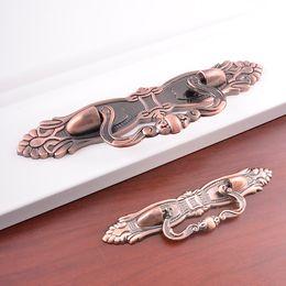 Wholesale Door Hardware Handle - OUKALI brand furniture bedroom kitchen hardware american antique bronze style zamak material closet cupboard door window drawer handles