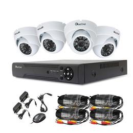 Wholesale Night Dvr System Hdd - YSCAM 4CH Realtime D1 DVR 4x HD 1000TVL Night Vision 120ft CMOS CCTV Camera Security System Surveillance Recorder CCTV System NO HDD