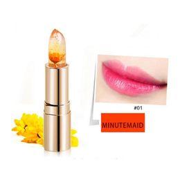 Wholesale Perfect Lipstick Color - Kailijumei Lipstick Moisturizer Bright Lip Cosmetics Waterproof Lipstick Flower Jelly Temperature Change Color Kailijumei Perfect Lipstick