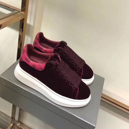 Wholesale Burgundy Leaf - Free Shipping burgundy suede Genuine Leather Sneaks Unisex Men Women Thick bottom with Leaf decor snakeskin hole leisure spring autumn shoes