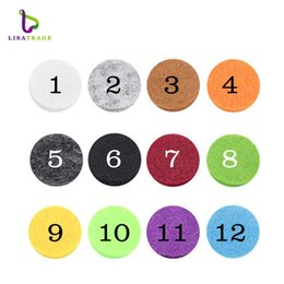 Wholesale Wholesale Imitation Perfumes - 100pcs lot Colorful Aromatherapy Felt Pads 22.5mm Fit for 30mm Essential Oil Diffuser Perfume Locket Floating Locket LSPA01*100