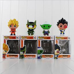 Wholesale Dragon Ball Z Frieza - FUNKO POP Dragon Ball Z Son Goku Vegeta Piccolo FRIEZA Cell PVC Action Figure Collectible Model Toy