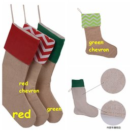 Wholesale Christmas Socks Decorations - 2016 Kids favourite Christmas stocking high quality Canvas Christmas socks gift bags 4colors decorative socks Size30*45cm