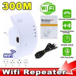 Wholesale Internal Antenna Booster Wholesale - 300Mbps Wireless Range Extender Access Point EEE802.11N 2.4GHz Ethernet Network Wifi Repeater Signal Booster- 3dBi Internal Antenna JBD-WIFI