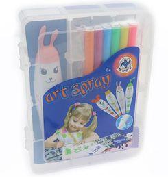 Wholesale Spray Pen - Art maker painting Electric spray paint pen Large-capacity watercolor Pens Multi-purpose spray paint pen sprayed painting for Children 60Pcs