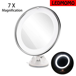 NEW LED 7X Magnifying Cosmetic Makeup Mirror With Power Locking Suction Cup Bright Diffused Light 360 Degree Rotating от Поставщики увеличительная линза
