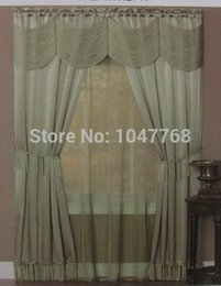 Wholesale Match Fixing - Width140cm (55) in Length220cm (in 90) with shade head set free shipping lace color matching high-grade cloth curtain