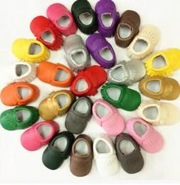 2019 kostenlose baby erste schuhe Baby Mokassins weiche Sohle 100% echtes Leder erste Spaziergang Schuhe Baby Leder Neugeborenen Schuhe Quasten maccasions Schuhe Kostenloser Versand rabatt kostenlose baby erste schuhe
