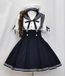 Wholesale Custom School Uniforms - (LLT024) Lolita Dresses Court barbie princess LOLITA dress school uniform wind suit cosplay sailor suit navy uniforms