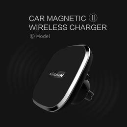 Wholesale General Wireless - NILLKIN 360 degree adjustable Car magnetic wireless charger II -B Model, General QI wireless charging standard with free shipping
