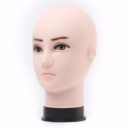 Wholesale Head Hat Stand - Wholesale-1 PCS Male Styrofoam PVC Foam Wig Stands Hair Hat Glasses Display Mannequin Head Model Tools