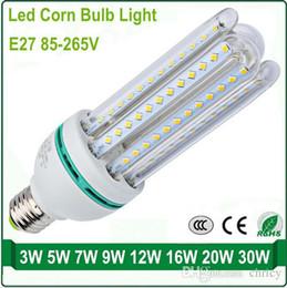 Wholesale E27 Led Bulbs 3w Corn - SMD2835 led corn light e27 energy saving lights led light bulb U shade corn bulb AC85-265V home lighting
