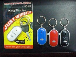 Wholesale keychain whistle locator - Retail Hot Sale LED Key Finder Locator Find Lost Keys Chain Keychain Whistle Sound Control with retail box