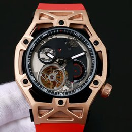 Wholesale Top Swiss Sport Watches - 2017 top luxury brand rose gold new men's watch new Swiss brand automatic mechanical mineral glass Rome design 43mm sports car series classi