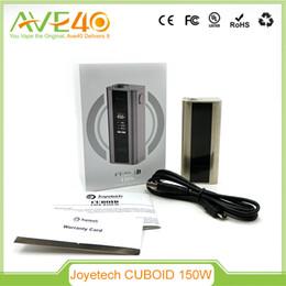 Wholesale Vw Display - Original Joyetech Cuboid 150W TC VW Box Mod Support SS316 Coils Best Match Cubis Atomizer Dual-battery Display