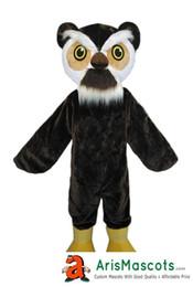 Gewohnheit eule kostüm online-Neue Eule Maskottchen Kostüm Benutzerdefinierte Team Maskottchen Sport Maskottchen Kostüm Desuisement Mascotte Charakter Design Company ArisMascots Lustige Maskottchen