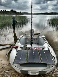 Solare stoffe online-75 Watt 36V Flexibles faltbares Solarpanel Rahmenloses Gewebe Tragbares Solarladegerät für den elektrischen Schiffsmotor Torqeedo