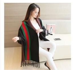 Wholesale Knit Shawl Large - 2016 winter women new long shawl knit cardigan large sweater Tassel cape coat cape poncho women
