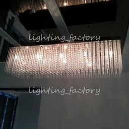 Deutschland Restaurant 100cm extra lange Kronleuchter Kristall Licht mit G4 LED Sterne Licht Esszimmer Restaurant LED Pendelleuchte Lüster de Cristal supplier long cristal lamps Versorgung